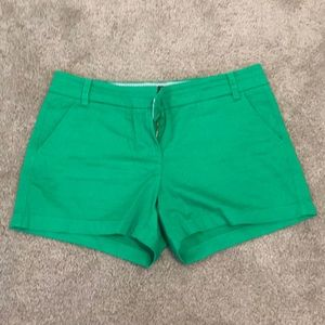 NWOT JCrew Green Chino Short Sz 10